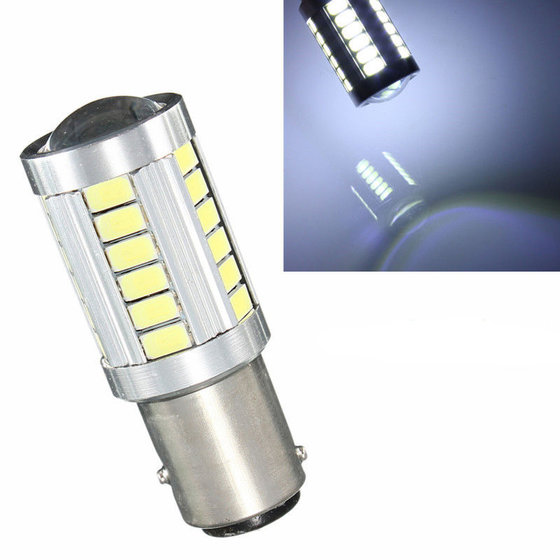 CYAN SOIL BAY 1157 BAY15D P21/5W 6000K White 33 SMD 33SMD LED 12V 24V Truck Car Boat Break Tail Light Bulb cyan soil bay h11 h8 2835 66 smd led 6000k auto projector fog daytime driving light bulb white red amber car bright than 33 smd