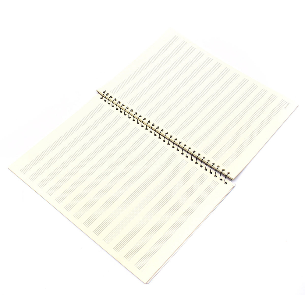 Perfect-50 Pages Mozart Musical Sheet Manuscript Paper Stave Notation Notebook Spiral Bound manuscript makeover