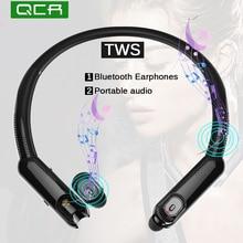 QCR X10  TWS Sport Wireless Bluetooth Earphones including Portable Neck Radio Noise Canceling Game HiFi Earbuds mi noise canceling earphones