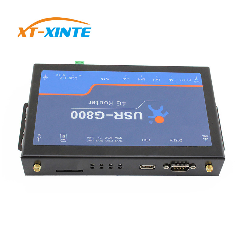 USR-G800-A 4G industrial LTE VPN Router with RS232 interface wireless 802.11 b/n/g