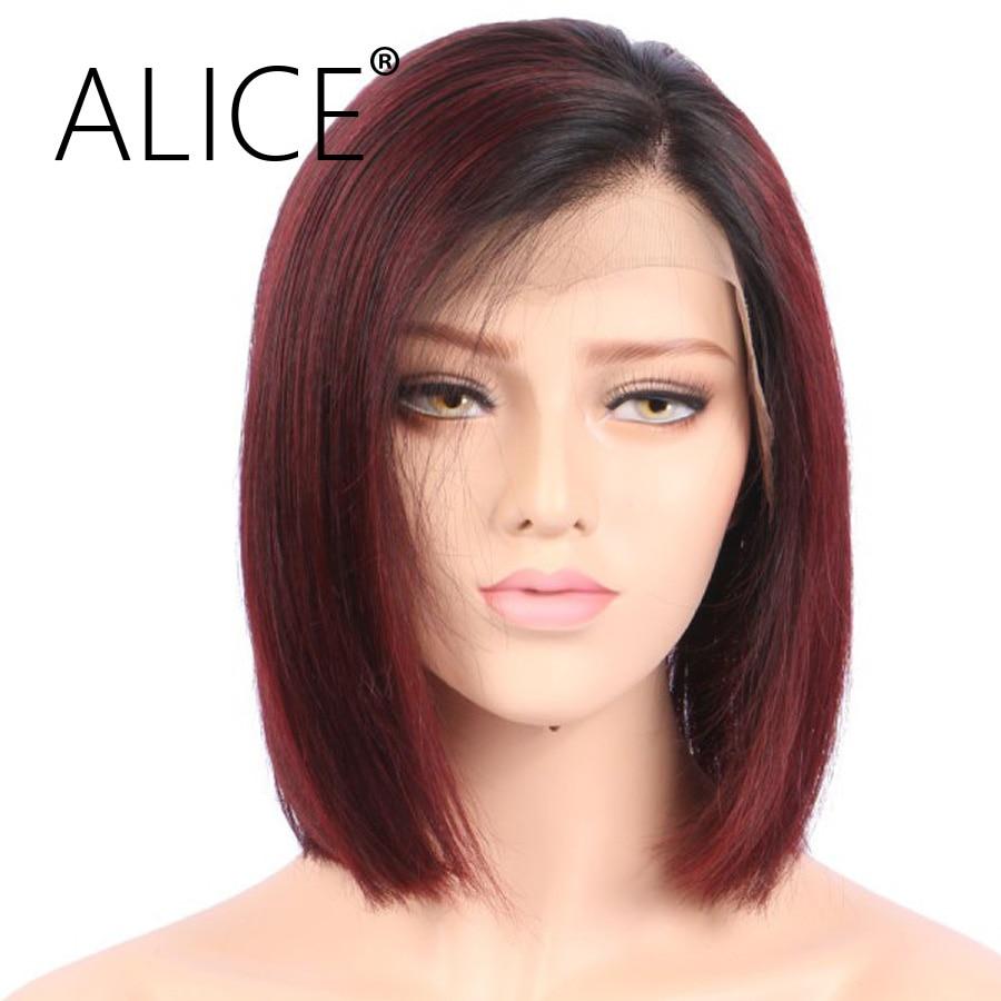 Aliexpress Com Buy Alice Short Straight Full Lace Human