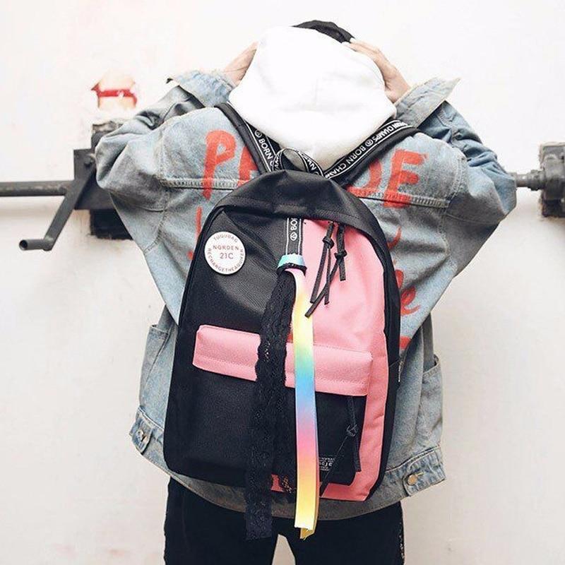 Frauen Rucksack Weiblichen Schul Reisetasche Mode Schule Rucksack für Mädchen Luxus Marke Tasche Mochila Feminina DALFR