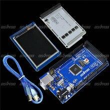 """3,2 """"TFT LCD Touch + 3,2 Zoll Schild Mega Schild + Mega2560 R3 mit Usb-kabel Für Arduino"""
