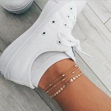copper bead chain foot bracelet bobo anklets for women bijoux boheme summer jewelry ankle cavigliera