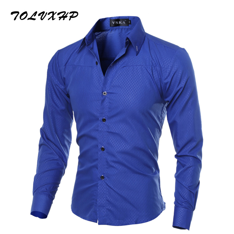 Johns Bakery Men Shirt Brand 2018 Male Large Size Long Sleeve Shirts Casual Plaid Slim Fit Black Male Lapel Dress Shirts M-5XL