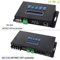 BC 204 4 CH/BC 216 16CH アートネット spi/DMX WS2811 WS2812B SK6812 ピクセルライトコントローラ; eternet プロトコル入力; DC5V 24V