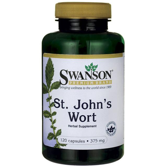 Frete grátis St Swanson. Erva de John s 375 mg 120 cápsulas de Suplemento de Ervas