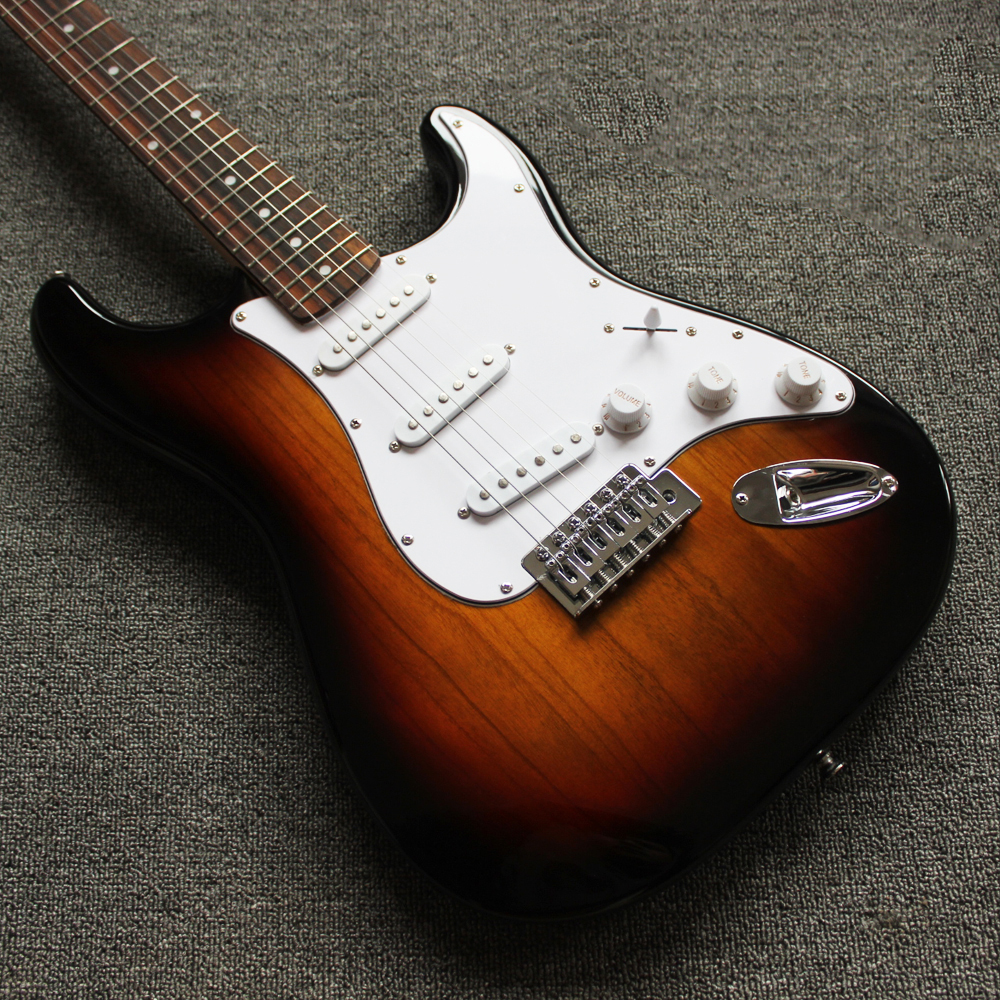 Guitare électrique de haute qualité débutant coucher de soleil 4 couleurs Instruments de musique Guitarra guitares acoustiques Paulownia bois AGT25