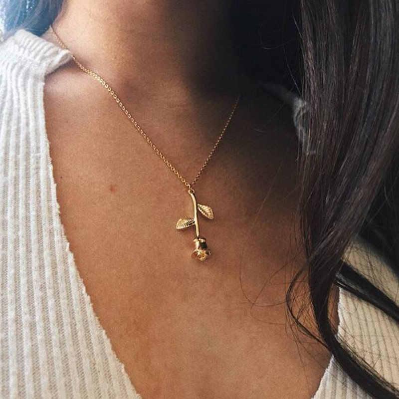 Moda Alloy kobiet naszyjniki i wisiorki choker naszyjnik 2018 kryształ w złotym kolorze wisiorek naszyjnik dla kobiet prezent hurtownie