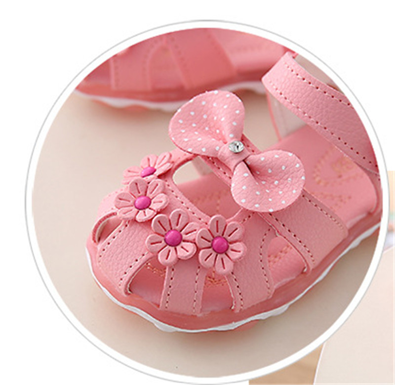 HTB1w2GEeXmWBuNjSspdq6zugXXao - Xinfstreet Baby Toddler Girls Summer Shoes Children Sandals With Light Up Breathable Soft Bow Kids Girls Sandals Size 21-30