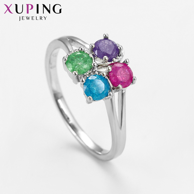 Xuping Fashion Simple Ring With Environmental Copper Ice Stone Jewelry for Women Christmas Day Gifts S77-15200