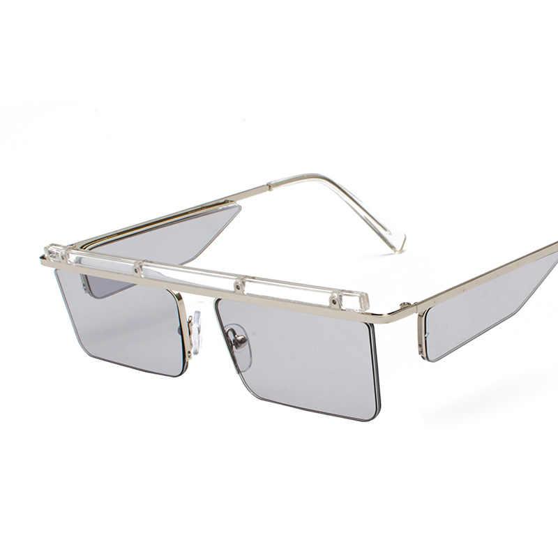 ae983625d194 ... Luxury Designer Women Men Sunglasses 2018 Fashion Rimless Square Sun  Glasses Unisex Stylish Metal Sunglass UV400 ...