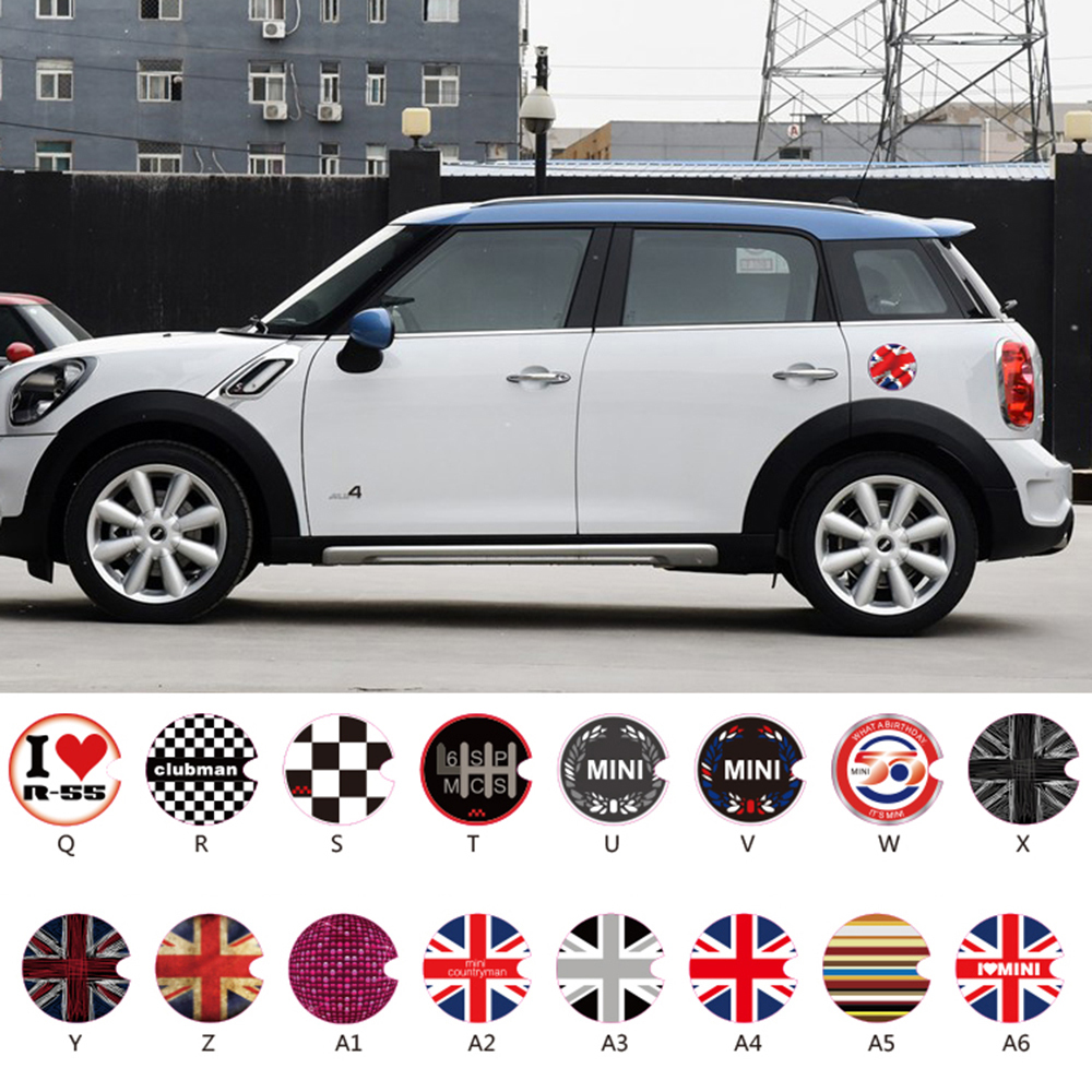 Aliexpress com buy car accessories fuel tank cap sticker oil tank decals for mini cooper countryman cabrio works coupe paceman one clubman from reliable