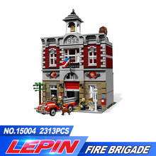 DHL 15004 Fire Brigade Station 2313 PCS Creator City Street Building Blocks Bricks Toy Gift Compatible legoed 10197(China)