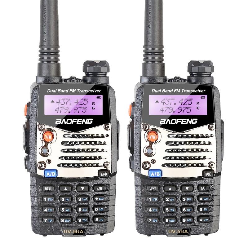 2PCS / LOT 100% Original BaoFeng UV-5RA Dual Band U / V Radio Portabel Handhållen Transceiver UV5RA