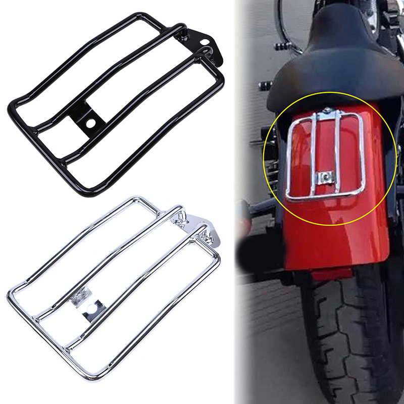 Motorcycle Parts Luggage Rack Carrier Bike For Harley Sportster XL883 1200 Luggage Rear Fender Rack Support Shelf Black/Chrome motorcycle bike parts custom rear luggage rack mount pole with american usa chrome flag for harley