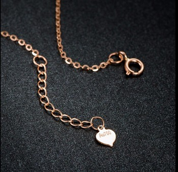 Pure Italy18k Rose Gold Bracelet/ Craved heart Link Chain Bracelet/2g  Hot sale 4