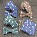 Mustache Print Neck Tie Set Men's Necktie Bowtie Handkerchief Casual Business Hanky Slim Ties For Suit Shirt Accessories Gravata