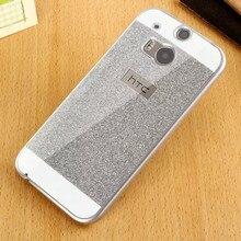 Para htc one m7 m8 m9 caso glitter ultrafino que bling telefone protetor rígido tampa traseira para htc m8 caso acessórios de luxo cristal
