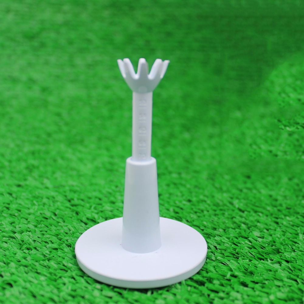 2 teile / paket Einstellbare Range Tees Weiß Kunststoff Golf Tees Golf Praxis Tees Golf Zubehör