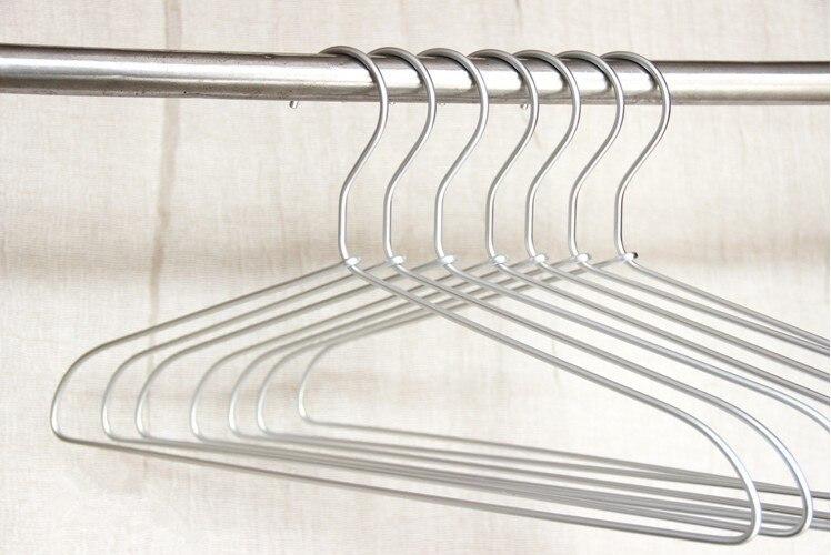 Jetdio Luxury Aluminum Tops Hanger Strong Metal Clothes Hanger 35 pieces Lot