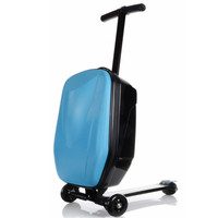 KUDUI New Rolling luggage Book Bags Hard Shell Wheeled Garment Suitcase bag Brand Business Travel child Scooter Trolley school