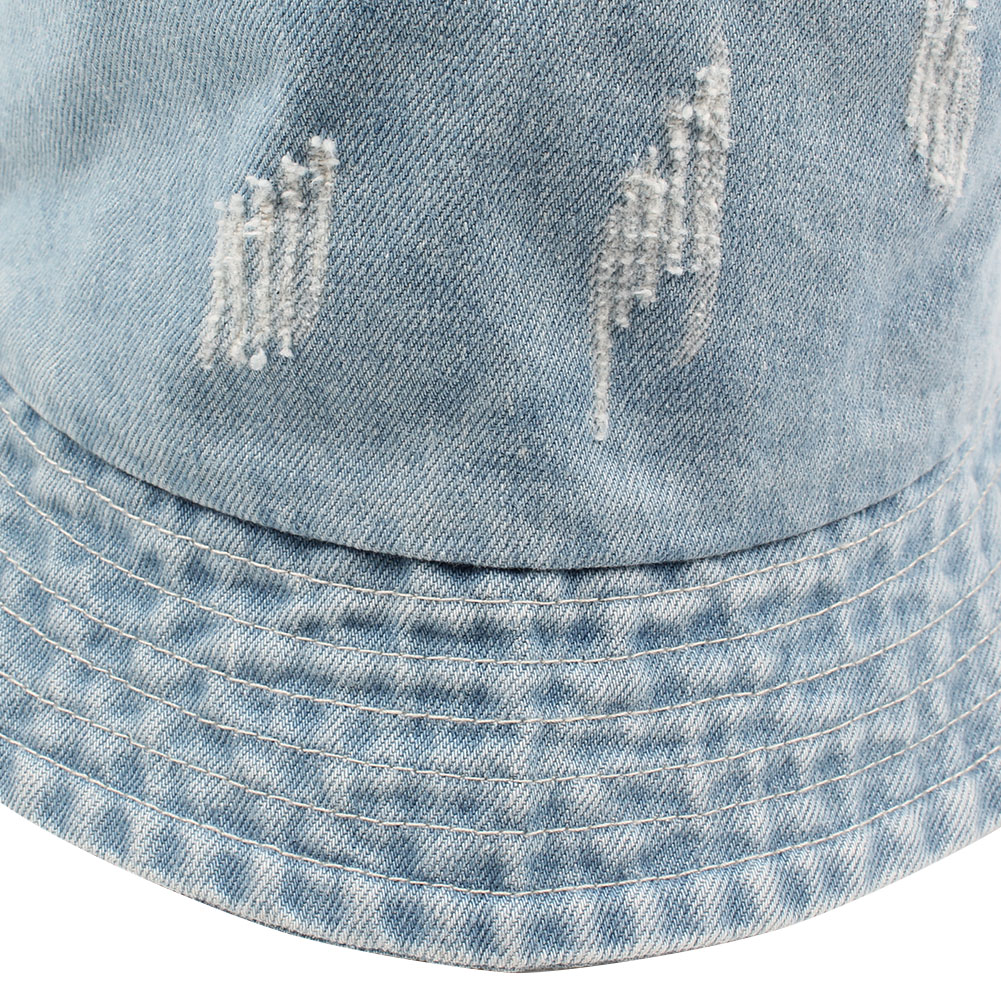 bb2a02c675e9a 2018 Women Men Bonnie Bucket Hat Denim Distressed Brim Visor Sun Shade  Fishing Packable Summer Cap K Pop Summer Fisherman Hat-in Bucket Hats from  Apparel ...