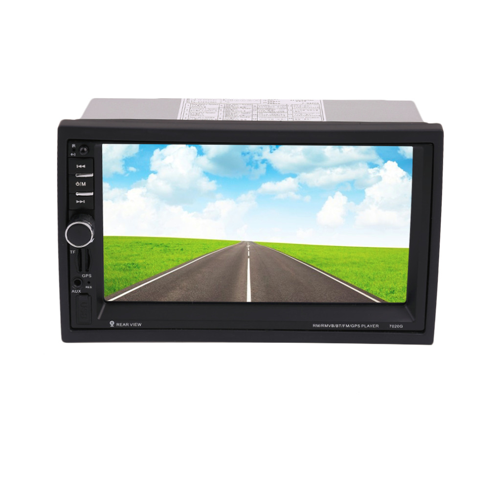 New Arrival 7020G Car Bluetooth Audio Stereo MP5 Player with Rearview Camera 7 inch Touch Screen GPS Navigation FM Function Hot 7 inch universal 7020g car bluetooth audio stereo car mp5 player without rearview camera touch screen gps fm am navigation hot