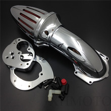 Aftermarket free shipping motorcycle parts Air Cleaner intake kits for  Kawasaki  Vulcan 1500 1600 Classic 2000-2012 Chrome