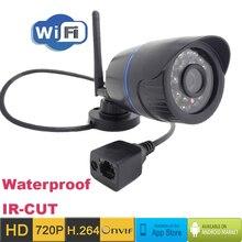 Ip камера 720 P HD Wifi видеонаблюдения водонепроницаемый беспроводной P2P полукабина открытый инфракрасный мини Onvif H.264 ик-cut ночного видения