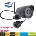 Câmera ip 720 p HD wi fi de segurança cctv à prova d ' água sem fio P2P à prova de intempéries ao ar livre infravermelho mini Onvif H.264 IR Night Vision CAM