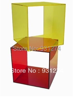 Цветной куб. Акриловые тумбочка с стеллаж для хранения современный журнальный столик стильный набор мебели для спальни