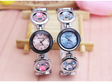 Girls women watch chrome steel luxurious Appeal Quartz Watches Spherical Dial Mickey Stone women feminine Gown Wristwatch mujer reloj