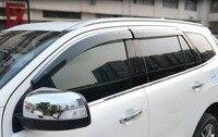 Woobest janela do carro viseira de chuva para ford everest endeavor  304 tipo cromo  com logotipo suzuki  4 pçs sobrancelhas chuva