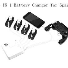6 в 1 интеллектуальный аккумулятор Spark зарядное устройство для пульта дистанционного управления умная Быстрая зарядка одновременно концентратор usb порты Запчасти для дрона DJJ Spark