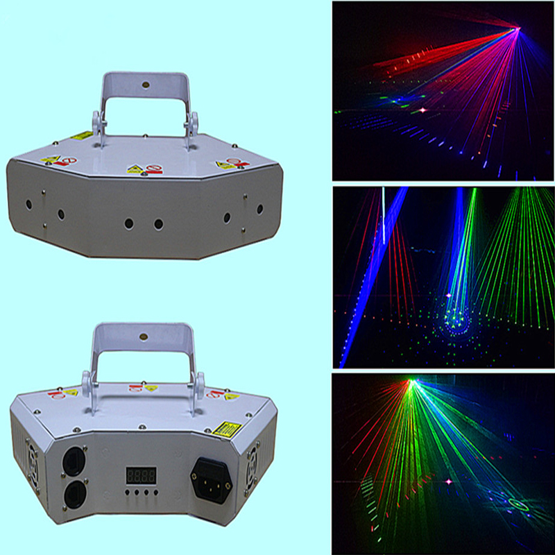 Wholesale Chrismas Light Party Lighting 6 eyes RGB Laser Light Equipment With Grating Effect for DJ Club Disco Stage Light the latest 2lens 40 pattern laser light for dj disco club party stage lighting effect page 2