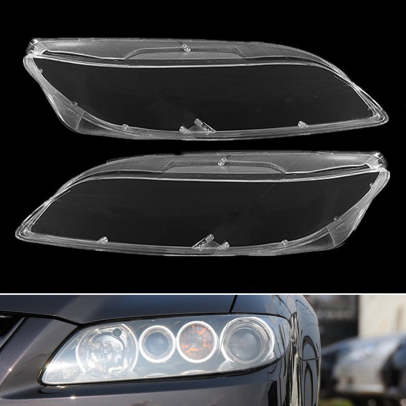 1pair Car Headlight Lens Glass Lampcover Cover Lampshade Bright Shell Auto Products Car Accessories Clear For Mazda 6 2003- 2008