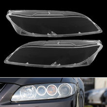 1pair Car Headlight Lens Glass Lampcover Cover Lampshade Bright Shell Auto Products Car Accessories Clear for Mazda 6 2003- 2008(China)