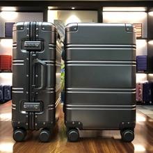 цена на SEABIRD100% Aluminum Alloy Business Travel Hard Shell Spinner Pull Rod Box TSA Lock Cabin Trolley Suitcase 20