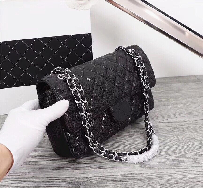 483bdefb28fb ① Discount for cheap jumbo caviar leather bag and get free shipping ...