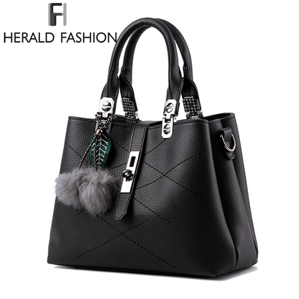 Herald Fashion Brand Tassel Women's Handbags PU Leather Luxury Female Top-Handle Tote High Quality Women Shoulder Bags распорка сантехническая зубр ширефит 51606