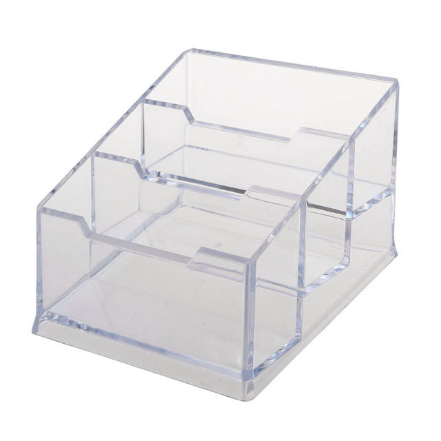 finest selection 17977 0e029 US $3.82 10% OFF|NEW Plastic 3 Tier Design Clear Business Card Stand  Holder-in Calendar from Office & School Supplies on Aliexpress.com |  Alibaba ...