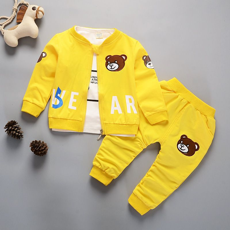 Newborn Kids Clothes Baby Boy Fashion Clothing Set 3PCS Tracksuit Autumn Spring Costume Toddler Children Outfits 1 2 3 4 Years 2