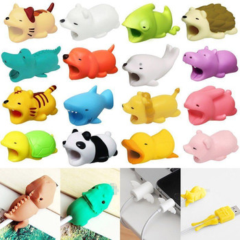 2 Pcs Cable Protector for iPhone Cable Charger Cute Animal Cartoon USB Cable Winder Holder Original Accessory Organizer protectores de cargador iphone