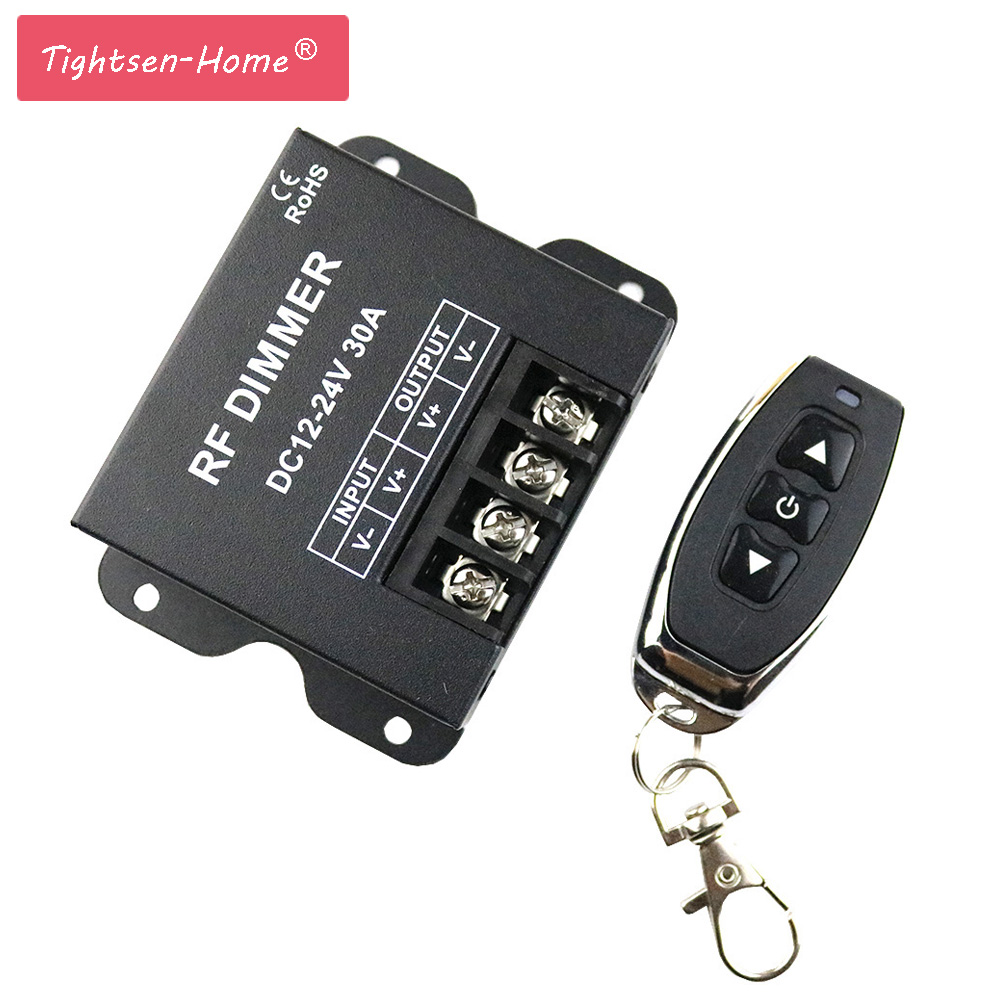 12V RF LED Dimmer Wireless Brightness 3 Keys Remote Controller DC 12V- 24V 30A 360W 720W for 5050 3528 Single Color Strip Lights цены онлайн