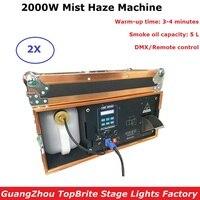 2000W Fog Machine DMX 512 Mist Haze Machine 5L Oil Capacity Professional Smoke Machine Stage Light Disco Party Light Projector