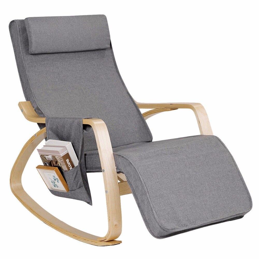 Giantex Rocking Chair Lounge Chair 1