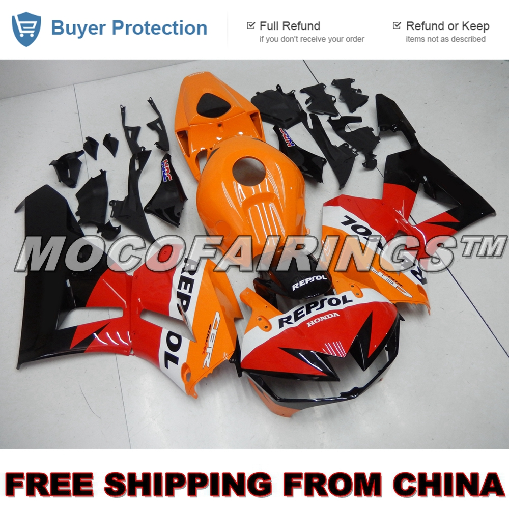 Motorcycle Fairing Body For Honda CBR 600RR CBR600RR 2013 2014 CBR600 RR F5 13 14 Injection ABS Fairings Kits ORANGE REPSOL NEW