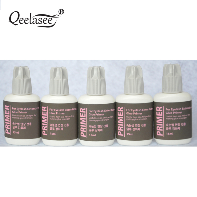 US $28 49 5% OFF|5 Bottles 15ml Glue Primer Used on Roots of False  Eyelashes Make Eyelash Glue stronger Dry Faster Korea Original Glue Primer  on