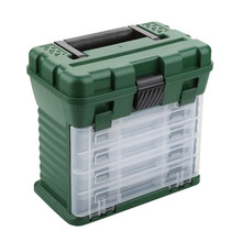 New Product 6 Layer PP+ABS Big Fishing Plastic Tackle Box Handle Wateproof Gear Storage Lure Box Carp Rock Fishing Accessories